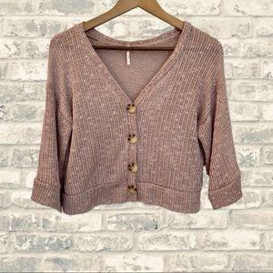🆕 NWOT Blush Open Knit Crop Cardigan